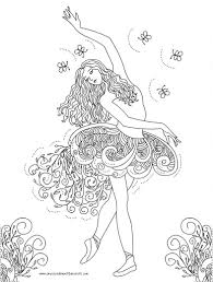http colorings coloring pages girls dance alredy colored