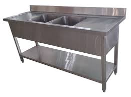 Deep Double Kitchen Sink by 1 8m Commercial Stainless Steel Double Bowl Double Drainer Sink