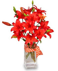 port orange florist blazing orange lilies arrangement in port fl port