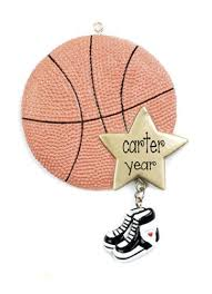 basketball my personalized ornaments