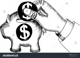 piggy bank icon save money sketch stock vector 386135209