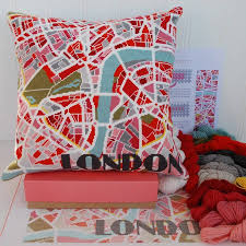 Map Tapestry Contemporary London Light City Map Tapestry Kit By Hannah Bass