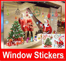 merry wall stickers tree garland for home