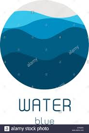 isolated round shape logo blue color logotype flowing water