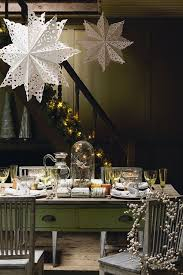 Christmas Table Decoration Uk by Christmas Table Ideas Giant Paper Snowflakes Houseandgarden Co Uk