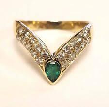 v shaped diamond ring ebay statement emerald yellow gold rings ebay