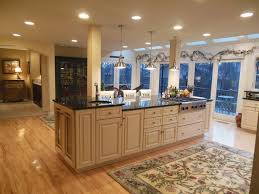 traditional kitchen with kitchen island u0026 one wall in rockford il