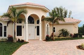 the beauty of spanish style stucco homes or this on a smaller