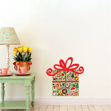 present wall decals holiday wall murals christmas wall murals present wall decal