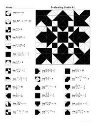 evaluating limits 1 color worksheet math pinterest