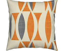 Modern Throw Pillows For Sofa Mid Century Pillow Etsy