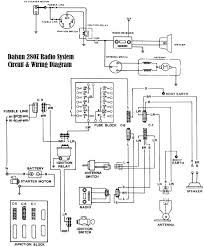 datsun 280z radio system circuit and wiring diagram