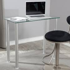 office glass office desk ideas using transparent compact glass