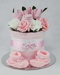baby clothes flower bouquet nappy cake new born baby shower