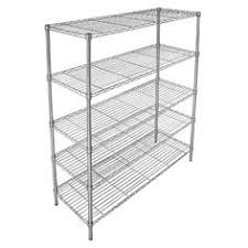 5 Tier Wire Shelving by Adjustable 5 Tier Wire Wide Shelving Unit Chrome Room