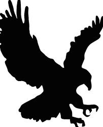 black claws hawk warmonger outline eagle silhouette bald eagle bird of