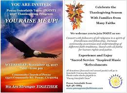 2017 thanksgiving event poway interfaith team