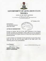 Executive Letter Of Resignation Connoisseur Photo Original Copy Of Nsima Ekere U0027s Resignation Letter