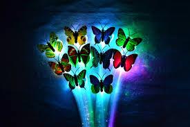 butterfly hair aliexpress buy 10pcs lot luminous hairpin light up led