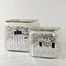 Mirrored Vases Glass Cylinder Vases Have A Contemplated Silver Interior And
