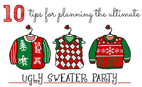 Christmas Sweater Party Ideas - 10 tips for throwing an ugly christmas sweater party