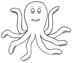 cute octopus coloring pages getcoloringpages com