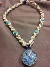hemp necklace pendants images Hand blown glass pendant hemp necklace 20 hemp jewlery by jpg