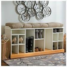 shoe storage bench elegant wood wooden boot compartments cubbies
