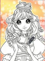 152 princess korean coloring images anime