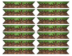 Flag Minecraft Minecraft Themed Straw Flags Drinking Straw Flag Oneburns
