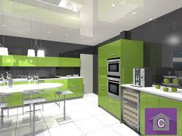 projet cuisine 3d cuisine leicht couleur verte