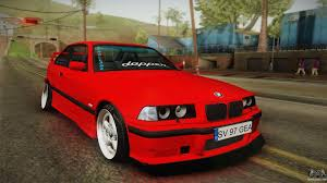 bmw e36 stanced bmw m3 e36 stance for gta san andreas