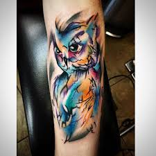 60 watercolor owl tattoos collection