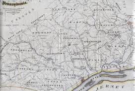 Pennsylvania County Map by 1860 U0027s Pennsylvania Maps