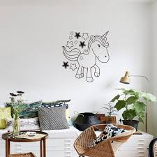 Home Decoration Accessories Wall Art Online Shop Cartoon Black Unicorn Star Horse Quotes Wall Art For