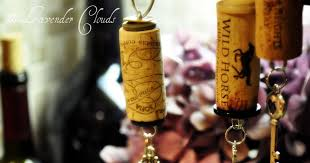lavender clouds wine cork ornaments