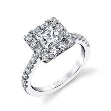 princess cut halo engagement ring princess cut halo engagement ring sylvie collectionalexis