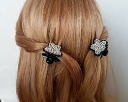 Decorative Hair Claws Rhinestone Hair Clip Etsy