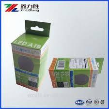 eco friendly led light packaging paper box custom printed light