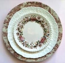 wedding china patterns shabby chic vintage mismatched china rental for weddings