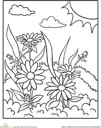 89 coloring pages nature spring season coloring