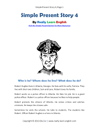Printable Halloween Stories Kids by Look A Free Printable English Short Story In The Simple Present
