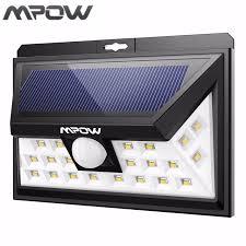 bright night solar lighting mpow 24 led solar lighting pir motion sensor outdoor l wide angle