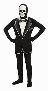 invisible halloween costume kids boys invisible skull tuxedo bodysuit costume 33 99 the