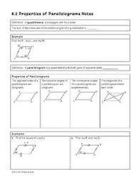 properties of parallelograms worksheet parallelograms partner activity activities students and math