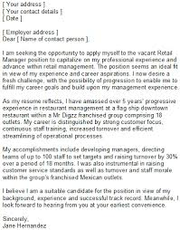 cover letters for retail retail manager covering letter sle