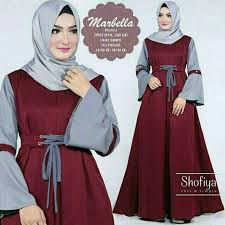 gamis modern baju gamis modern anak muda marbella marun abu baju gamis
