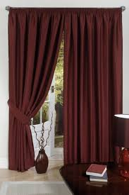 unique burgundy curtain and gold drapery for living room curtain