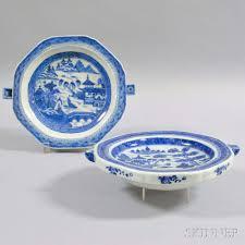 canton porcelain two canton porcelain hot water plates sale number 2959m lot