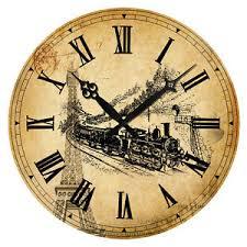 Shabby Chic Wall Clocks by Vintage Style Rustic Shabby Chic Retro Train Eiffel Tower Wall